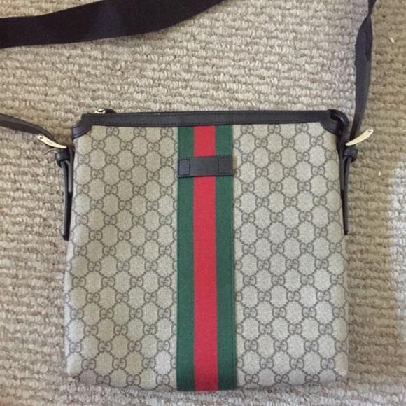 Gucci Handbags Web Gg Supreme Flat Messenger 590 Obo